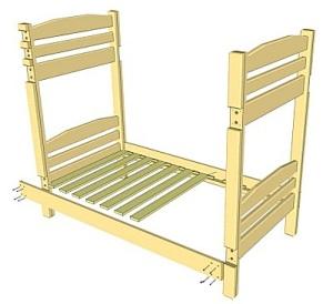 Двоярусне ліжко з дсп своїми руками. Креслення двоярусного ліжка