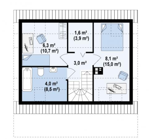 Будинок з бруса 8 10 dwg. Розглядаємо креслення будинків з бруса