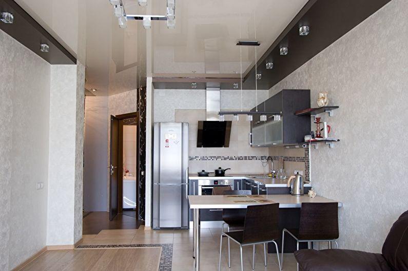 Стелі підвісні на кухню.  проста побілка і фарбування